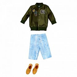 Barbie Ken ruhák - Zöld dzseki (kép 1)