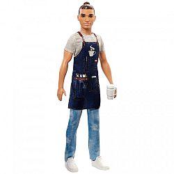 Barbie karrier babák - barista Ken (kép 1)