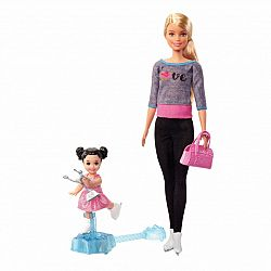 Barbie karrier játékszett - Korcsolya edző (kép 1)