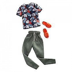Barbie Ken ruhák - Mintás póló zöld nadrággal (kép 1)