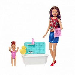 Barbie Skipper bébiszitter játékszett - Skipper fürdőkáddal (kép 1)