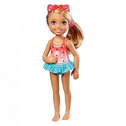 Barbie Chelsea babák - szőke szivecskés fürdőruhában (kép 1)