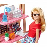 Barbie szoba babával - iroda (kép 2)