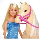 Barbie lovas szett babával (kép 3)