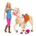 Barbie lovas szett babával (kép 2)
