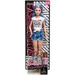 Barbie fashionista barátnők - kékes hajú farmer rövidnadrágban (kép 4)