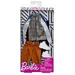 Barbie Ken ruhák - barna-kék mintás felső (kép 2)