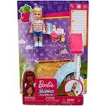Barbie Skipper bébiszitter kiegészítő szett - kisfiú csúszdával (kép 3)