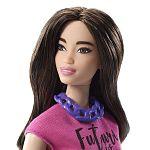 Barbie Fashionista barátnők - molett barna piros rövidnadrágban (kép 3)