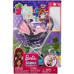 Barbie Skipper bébiszitter kiegészítő szett - baba rózsaszín babakocsival (kép 5)