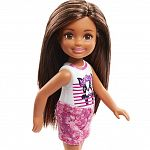 Barbie Chelsea babák - barna hajú kutyusos felsőben (kép 2)
