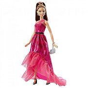 Barbie fashionista baba estélyi ruhában - barna