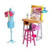 Barbie karrier kiegészítő szett - varrónő