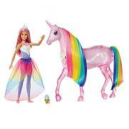 Barbie Dreamtopia csillámfény unikornis babával